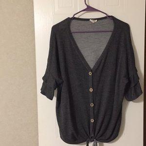 bibi Tops - Cute bono ruffled sleeve shirt